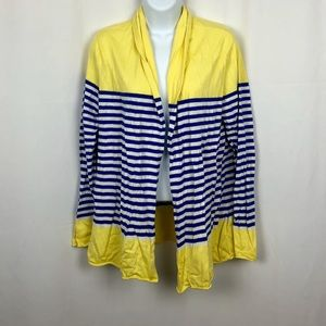Talbots open front cardigan sweater L